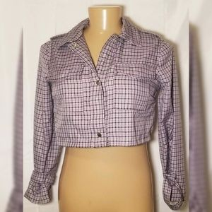 Wild Fable Brand Womens Gray Stripped Half Jacket